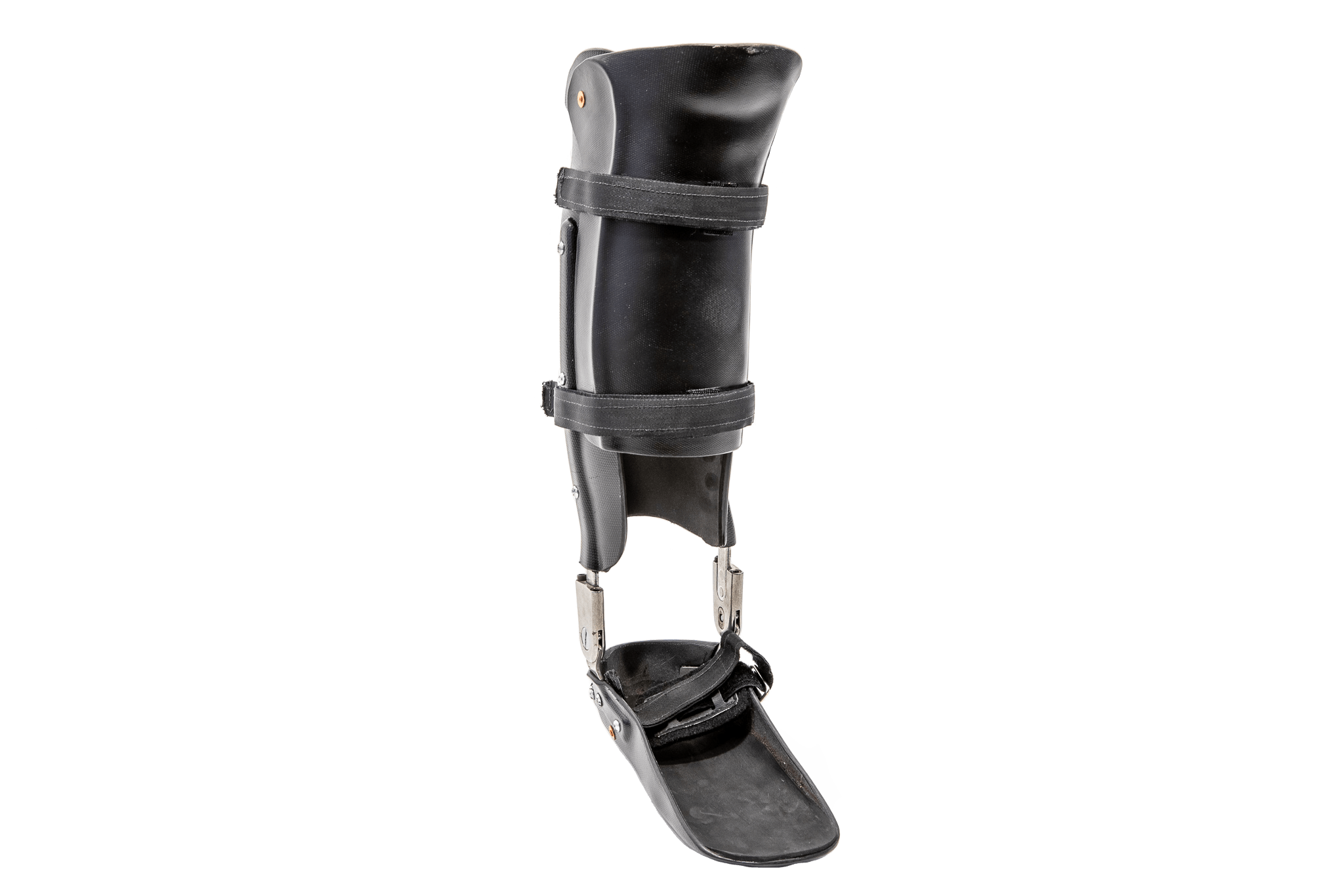 An ankle and foot orthotic.
