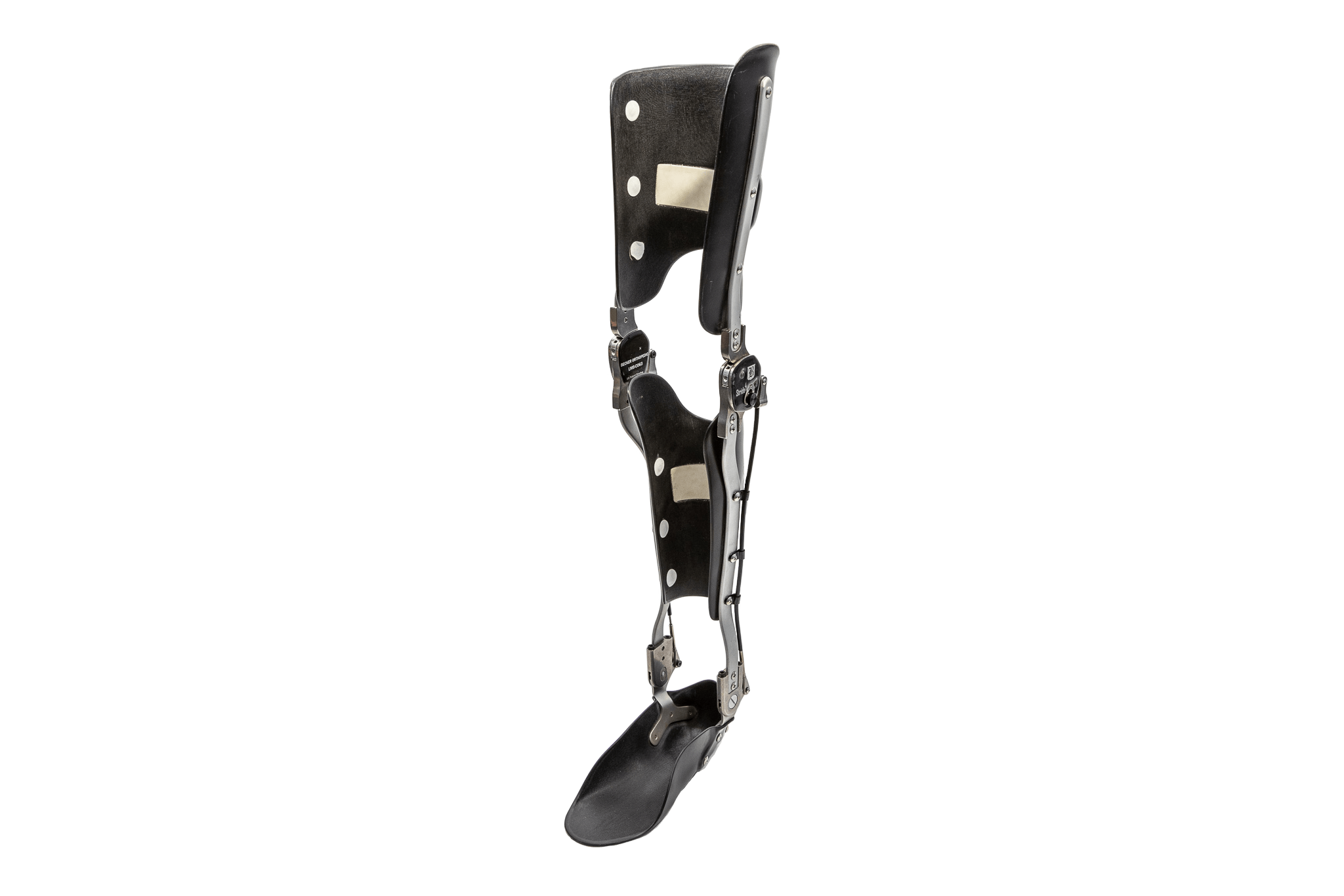 A knee, ankle, and foot orthotic.
